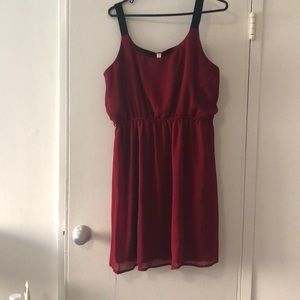 Garnet and black dress